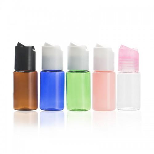 BPA Free Plastic PET Bottles With Hand Press Smooth Disc Flip Caps Tops Lids