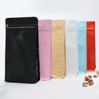 Heat Seal Aluminum Foil Stand Up Pouch Coffee Bags With Degassing Valve