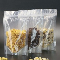 Clear Stand Up Pouches Wholesale Transparent Plastic Packaging Bags