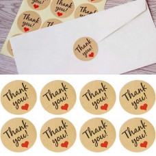 Custom Logo Printing Round Kraft Paper Adhesive Label Stickers For Cosmetic Packaging