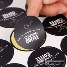 Customized Private Essential Oil Label Cosmetic Bottle Package Matte Black Paper Sticker