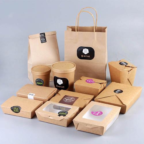 Custom Food Label Sticker For Take Away Packaging Box