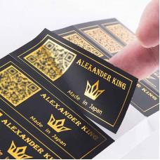 Customized Sticker Gold Logo Design Printing