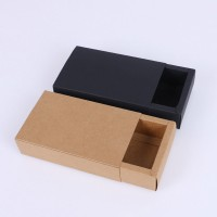 Kraft Paper Slide Open Tray Match Type Gift Box Packaging