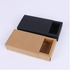 Kraft Gift Box Slide Open Tray Match Type Packaging Box Custom