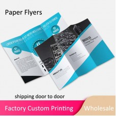 Custom Design Logo Printing Paper Flyers