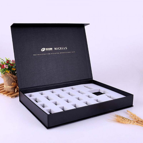 .High Quality Custom Book Shaped Gift Box With Foam And Magnet