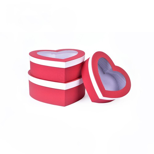 High Quality Heart Shaped Paper Cardboard Gift Packaging Box For Love