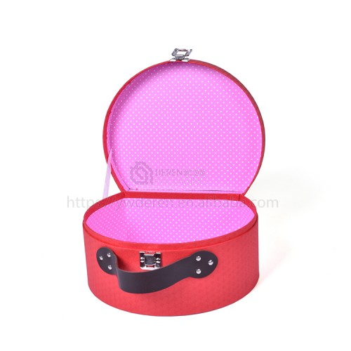 Custom Handmade Cardboard Suitcase Gift Packaging Carrying Box With Handle Wholesale