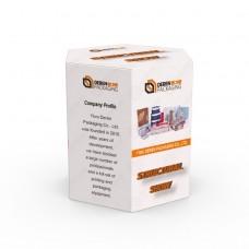 Custom Logo Printing Hexagon Gift Paper Packaging Box