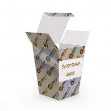Trapezoid Shape Premium Silver Paper Cardboard Glossy Packing Box