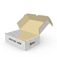 Durable Folding Corrugated Cardboard Custom Shipping Boxes For Postal Delivery