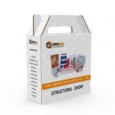 Hard Portable Kraft Corrugated Cardboard Gift Packaging Box With Handle