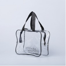 Clear PVC Zipper Shoulder Bag With Handle
