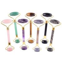 Hot Selling Real Jade Stone Natural Rose Quartz Facial Roller